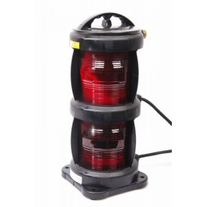 Navigation light double - Port Red + certificate without lamp